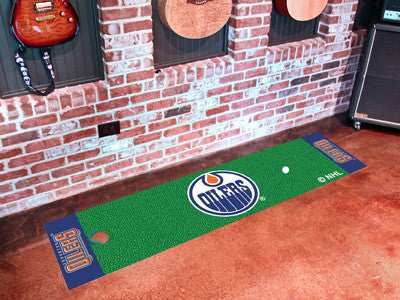 "NHL Officially licensed products Edmonton Oilers Putting Green Mat 18""x72"" Become a pro and perfect your short game with Gol"