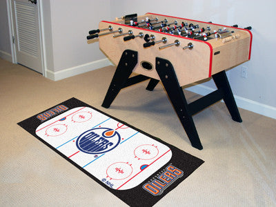 "NHL Officially licensed products Edmonton Oilers Rink Runner 30""x72"" The ice might be cool but these hockey Rink Runners are"