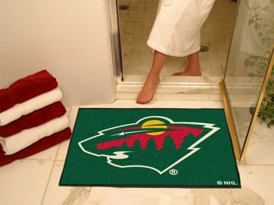 "NHL Officially licensed products Minnesota Wild All-Star Mat 33.75""x42.5"" Join the All-Star team and decorate your home or o"