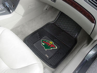"NHL Officially licensed products Minnesota Wild  2-pc Vinyl Car Mats 17""x27"" Add style to your ride with heavy duty Vinyl Ca"