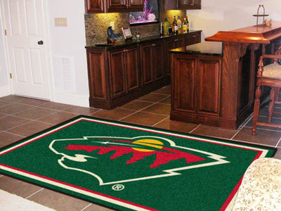 NHL Officially licensed products Minnesota Wild 5'x8' Rug Show off your team pride in a big way! 5'x8' ultra plush area rugs
