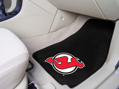"NHL Officially licensed products New Jersey Devils 2-pc Printed Carpet Car Mats 17""x27"" Show your fandom even while driving"
