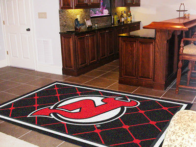 NHL Officially licensed products New Jersey Devils 5'x8' Rug Show off your team pride in a big way! 5'x8' ultra plush area r