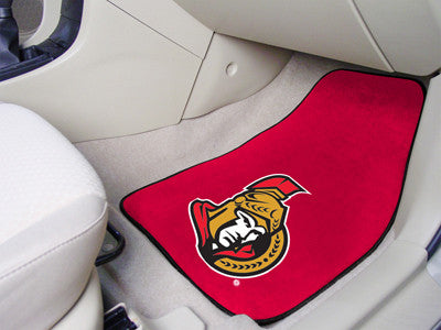 "NHL Officially licensed products Ottawa Senators 2-pc Printed Carpet Car Mats 17""x27"" Show your fandom even while driving wi"