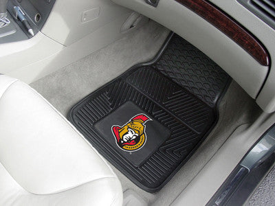 "NHL Officially licensed products Ottawa Senators  2-pc Vinyl Car Mats 17""x27"" Add style to your ride with heavy duty Vinyl C"