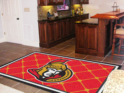 NHL Officially licensed products Ottawa Senators 5'x8' Rug Show off your team pride in a big way! 5'x8' ultra plush area rug