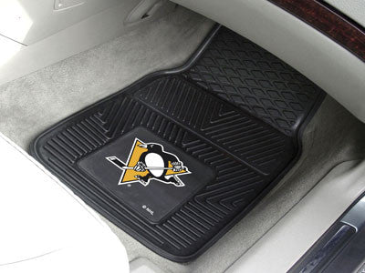 "NHL Officially licensed products Pittsburgh Penguins  2-pc Vinyl Car Mats 17""x27"" Add style to your ride with heavy duty Vin"