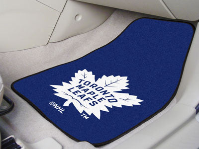 "NHL Officially licensed products Toronto Maple Leafs 2-pc Printed Carpet Car Mats 17""x27""  Show your fandom even while drivi"