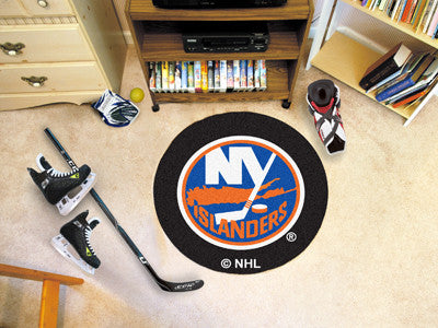 "NHL Officially licensed products New York Islanders Puck Mat 27"" diameter  Protect your floor in style and show off your fan"