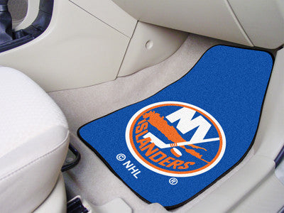 "NHL Officially licensed products New York Islanders 2-pc Printed Carpet Car Mats 17""x27"" Show your fandom even while driving"