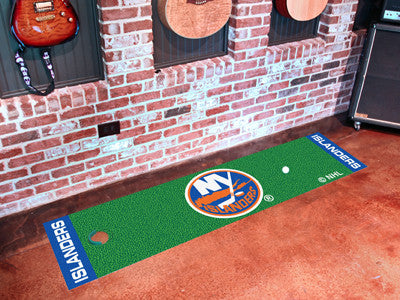 "NHL Officially licensed products New York Islanders Putting Green Mat 18""x72"" Become a pro and perfect your short game with"