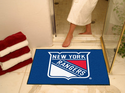 "NHL Officially licensed products New York Rangers All-Star Mat 33.75""x42.5"" Join the All-Star team and decorate your home or"