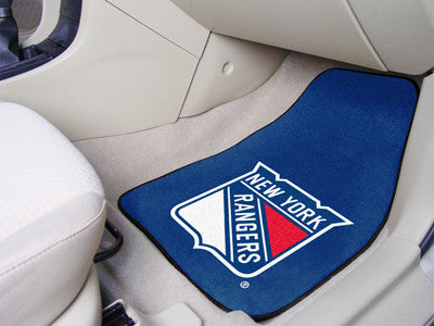 "NHL Officially licensed products New York Rangers 2-pc Printed Carpet Car Mats 17""x27"" Show your fandom even while driving w"