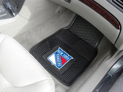 "NHL Officially licensed products New York Rangers  2-pc Vinyl Car Mats 17""x27"" Add style to your ride with heavy duty Vinyl"