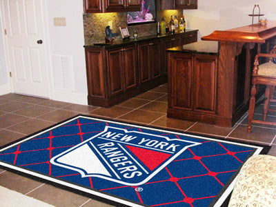 NHL Officially licensed products New York Rangers 5'x8' Rug Show off your team pride in a big way! 5'x8' ultra plush area ru