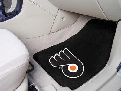 "NHL Officially licensed products Philadelphia Flyers 2-pc Printed Carpet Car Mats 17""x27"" Show your fandom even while drivin"