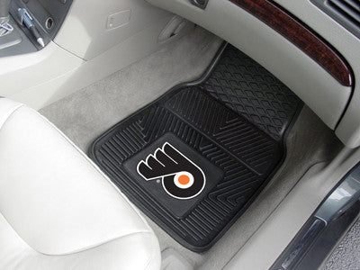 "NHL Officially licensed products Philadelphia Flyers  2-pc Vinyl Car Mats 17""x27"" Add style to your ride with heavy duty Vin"