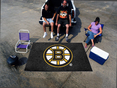 NHL Officially licensed products Boston Bruins Ulti-Mat 5'x8' Start showing off your team pride with an Ulti-Mat from Sports