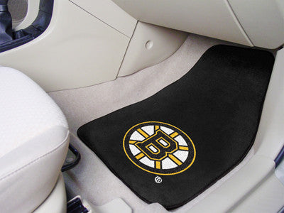 "NHL Officially licensed products Boston Bruins 2-pc Printed Carpet Car Mats 17""x27"" Show your fandom even while driving with"