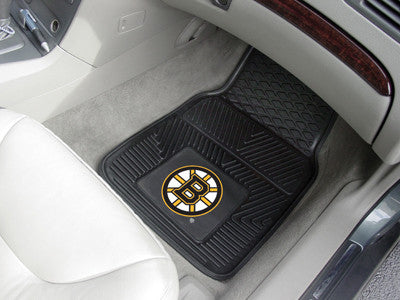 "NHL Officially licensed products Boston Bruins  2-pc Vinyl Car Mats 17""x27"" Add style to your ride with heavy duty Vinyl Car"