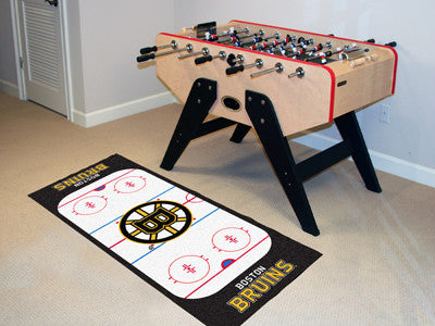 "NHL Officially licensed products Boston Bruins Rink Runner 30""x72"" The ice might be cool but these hockey Rink Runners are r"