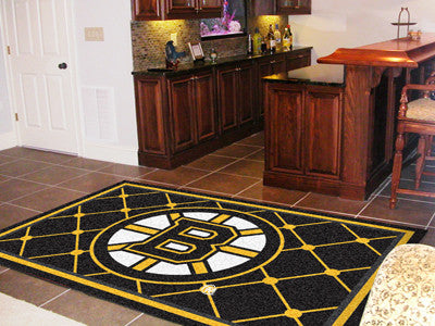 NHL Officially licensed products Boston Bruins 5'x8' Rug Show off your team pride in a big way! 5'x8' ultra plush area rugs