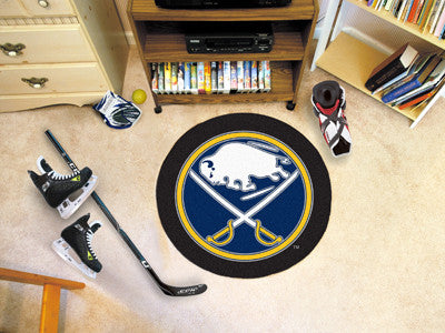 "NHL Officially licensed products Buffalo Sabres Puck Mat 27"" diameter  Protect your floor in style and show off your fandom"