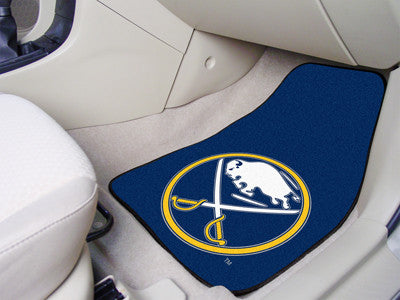 "NHL Officially licensed products Buffalo Sabres 2-pc Printed Carpet Car Mats 17""x27"" Show your fandom even while driving wit"