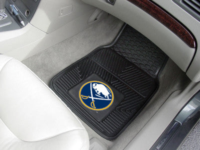 "NHL Officially licensed products Buffalo Sabres  2-pc Vinyl Car Mats 17""x27"" Add style to your ride with heavy duty Vinyl Ca"