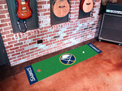 "NHL Officially licensed products Buffalo Sabres Putting Green Mat 18""x72"" Become a pro and perfect your short game with Golf"