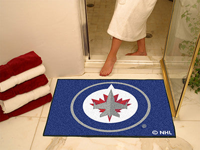 "NHL Officially licensed products Winnipeg Jets All-Star Mat33.75""x42.5"" Join the All-Star team and decorate your home or off"