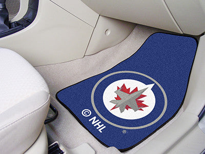 NHL Officially licensed products Winnipeg Jets 2-pc Printed Carpet Car Mat Set Show your fandom even while driving with Carp