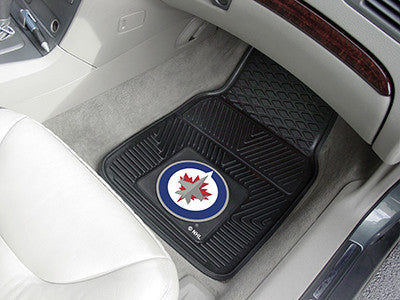 "NHL Officially licensed products Winnipeg Jets  2-pc Vinyl Car Mats 17""x27"" Add style to your ride with heavy duty Vinyl Car"