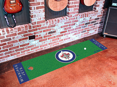 "NHL Officially licensed products Winnipeg Jets Putting Green Mat 18""x72"" Become a pro and perfect your short game with Golf"