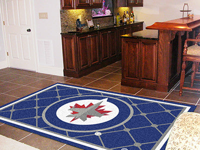 NHL Officially licensed products Winnipeg Jets 5'x8' Rug Show off your team pride in a big way! 5'x8' ultra plush area rugs