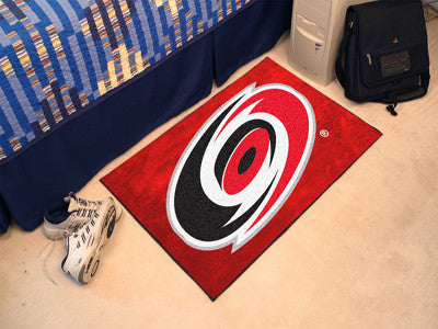 NHL Officially licensed products Carolina Hurricanes Starter Mat Start showing off your team pride at home and the office wi