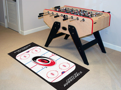 "NHL Officially licensed products Carolina Hurricanes Rink Runner 30""x72"" The ice might be cool but these hockey Rink Runners"