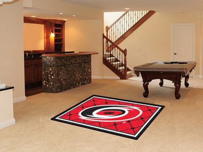 NHL Officially licensed products Carolina Hurricanes 4'x6' Rug Show off your team pride in a big way! 4'x6' ultra plush area