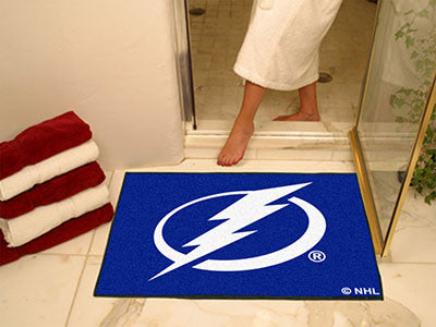 "NHL Officially licensed products Tampa Bay Lightning All-Star Mat 33.75""x42.5"" Join the All-Star team and decorate your home"