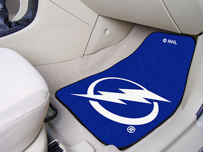 "NHL Officially licensed products Tampa Bay Lightning 2-pc Printed Carpet Car Mats 17""x27"" Show your fandom even while drivin"