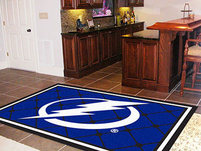 NHL Officially licensed products Tampa Bay Lightning 5'x8' Rug Show off your team pride in a big way! 5'x8' ultra plush area