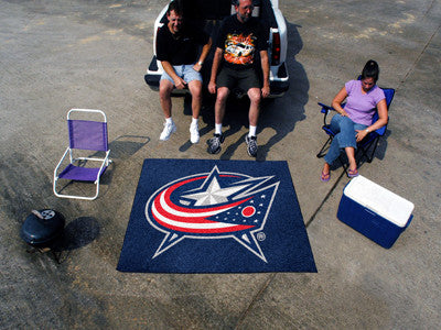 NHL Officially licensed products Columbus Blue Jackets Tailgater Rug 5'x6' Start showing off your team pride with a Tailgate