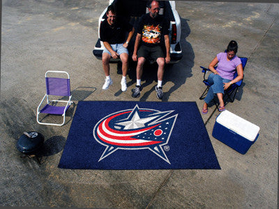 NHL Officially licensed products Columbus Blue Jackets Ulti-Mat 5'x8' Start showing off your team pride with an Ulti-Mat fro
