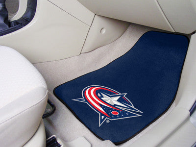 "NHL Officially licensed products Columbus Blue Jackets 2-pc Printed Carpet Car Mats 17""x27"" Show your fandom even while driv"