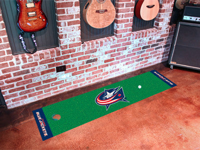 "NHL Officially licensed products Columbus Blue Jackets Putting Green Mat 18""x72"" Become a pro and perfect your short game wi"