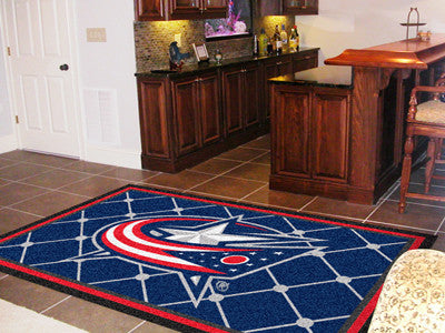 NHL Officially licensed products Columbus Blue Jackets 5'x8' Rug Show off your team pride in a big way! 5'x8' ultra plush ar