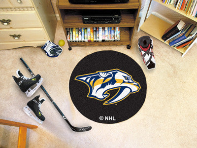 "NHL Officially licensed products Nashville Predators Puck Mat 27"" diameter  Protect your floor in style and show off your fa"