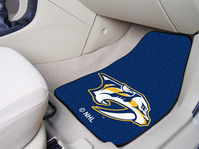 "NHL Officially licensed products Nashville Predators 2-pc Printed Carpet Car Mats 17""x27"" Show your fandom even while drivin"
