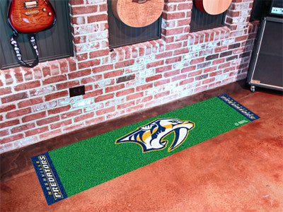 "NHL Officially licensed products Nashville Predators Putting Green Mat 18""x72"" Become a pro and perfect your short game with"