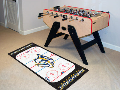 "NHL Officially licensed products Nashville Predators Rink Runner 30""x72"" The ice might be cool but these hockey Rink Runners"